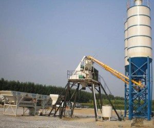 Стационарный бетонный завод HZS25